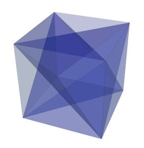 Sapphire Cube with Magen Daivid Star Inside  3