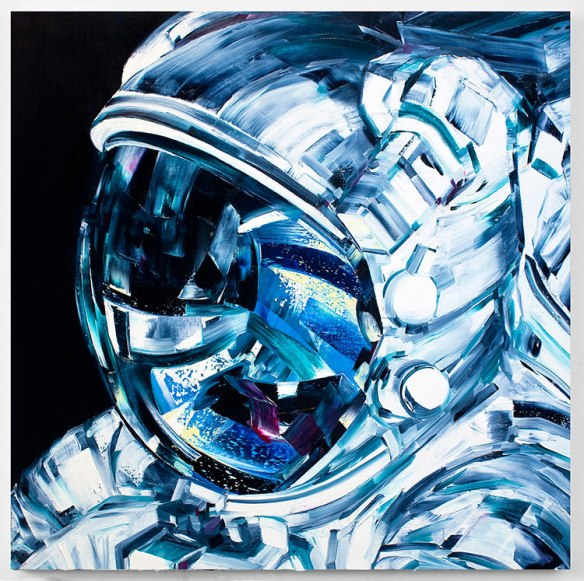 Astronaut1 - Michael Kagen_s Space-Based Painting