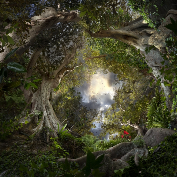 Garden Lost - Surreal Landscapes Composed from Hundreds of Photographs by Catherine Nelson